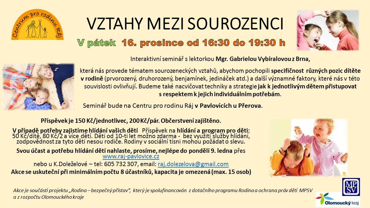 VZTAHY MEZI SOUROZENCI 2016
